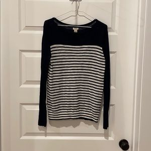 J. Crew Navy & White Sweater - Medium